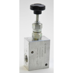 "Walvoil Drukregelventiel - VMPB20002 | Van P naar T. | 210 bar bar | 3/4"" BSP | 182 mm | Handwiel | 80 l/min | 50 200 bar"