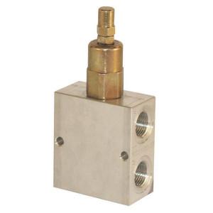 "Walvoil Drukregelventiel VMPB 08 S C - VMPBL10001 | Aluminium | Van P naar P | 147 mm | 6,5 mm | Inbusschroef | 60 l/min | 1/2"" BSP | 50 220 bar"