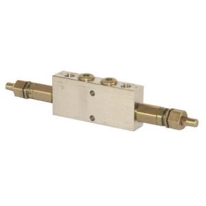 "Walvoil Bal.ventiel dubb. 3/8BSP 5-210 - VODL05003 | Inbus extern | Van D1 : D2 naar U1 : U2 | 141 mm | 65 mm | 8,5 mm | 35 l/min | 210 bar | 3/8"" BSP | Oleostar BSP | 5 210 bar"