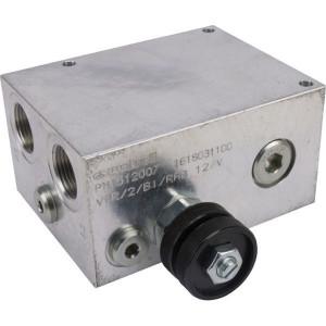 """Walvoil 2-Weg stroomr. ventiel DW - VPR2BIRAB12V   Aluminium   100 mm   130 mm   50 mm   210 bar   40 l/min   6,5 mm   3/4""""   1/2"""""""