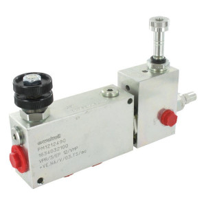 "Walvoil 3-Weg stroomr.vent. VMP+VE St. - VPR3EP10003ST | 1/2"" 1"" BSP | Grofafstelling | 130 mm | 1/2"" BSP | VMP + VE | Handwiel | 6,5 mm | 50 220 bar | 90 l/min | 0 50 l/min"