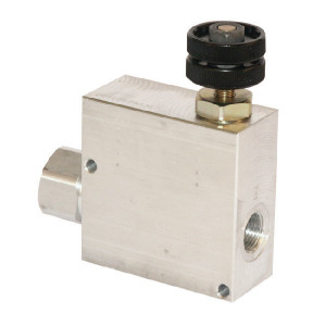 "Walvoil 3-Weg stroomr.vent. 50-30 3/8 - VPR3ET05001 | BSP-binnendraad | Grofafstelling | Aluminium | 3/8"" BSP | Aluminium | Handwiel | 50 l/min | 30 l/min"