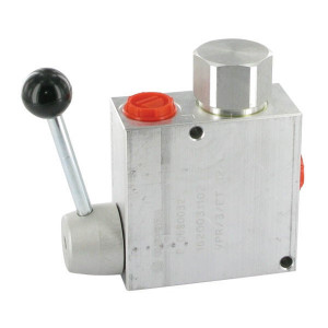 "Walvoil 3-Weg stroomr.vent. 50-30 3/8 - VPR3ET05002 | BSP-binnendraad | Grofafstelling | Aluminium | 3/8"" BSP | Aluminium | +Lever | 50 l/min | 30 l/min"