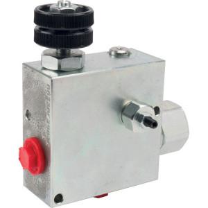"Walvoil 3-Weg stroomr.vent. 50-30 St. - VPR3ET05004ST | 3/8"" 1/2"" BSP | Grofafstelling | 3/8"" BSP | with relief valve | Handwiel | 6,5 mm | 50 l/min | 180 350 bar | 50 l/min | 0 30 l/min"