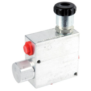 "Walvoil 3-Weg stroomr.vent. 50-30 3/8 - VPR3ET05005 | BSP-binnendraad | Grofafstelling | Aluminium | 3/8"" BSP | Aluminium | 50 l/min | 30 l/min"