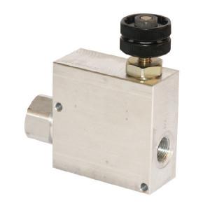 "Walvoil 3-Weg stroomr.vent. 90-50 1/2 - VPR3ET10001 | BSP-binnendraad | Grofafstelling | Aluminium | 1/2"" BSP | Aluminium | Handwiel | 90 l/min | 50 l/min"