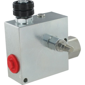 "Walvoil 3-Weg stroomr.vent. 3/4 S - VPR3ET20004ST | 3/8"" 1/2"" BSP | Grofafstelling | 110 mm | 3/4 BSP | 110 mm | with relief valve | Handwiel | 8.5 mm | 150 l/min | 180 350 bar | 150 l/min | 0-90 l/min"