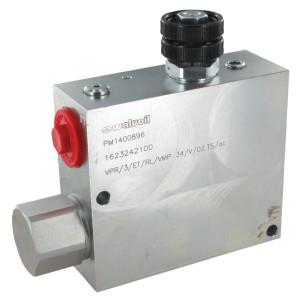 "Walvoil VPR/3/ET/RL/VMP 34/V/02.TS/ac - VPR3ET20007ST | 3/8"" BSP | Grofafstelling | 138 mm | 3/4 BSP | 120 mm | Handknob | 8.5 mm | 150 l/min | 150 l/min | 90 l/min"