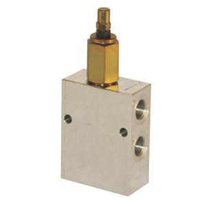 "Walvoil Reduceerventiel S B 1/2 - VRPRL10001 | Aluminium | tot 50 l/m | 105 mm | 177,5 mm | Inbusschroef | 50 l/min | 1/2"" BSP | 40 110 bar"