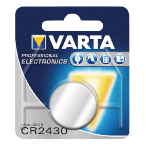 VARTA Consumer Batteries Batterij CR 2430 Varta - VT6430 | CR2430 | A106012200 | 24,5 mm | 280 mAh
