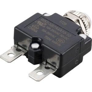 Thermische circuitonderbreker - W57XB7A4A1010   Vlaksteker, 6.3 x 0.8   250V AC