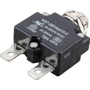 Thermische circuitonderbreker - W57XB7A4A105   Vlaksteker, 6.3 x 0.8   250V AC