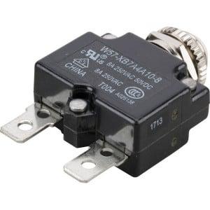 Thermische circuitonderbreker - W57XB7A4A108   Vlaksteker, 6.3 x 0.8   250V AC