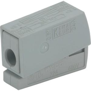 Wago Aansluitklem 1 V grijs - WAG224101
