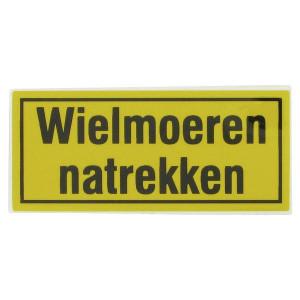 Sticker wielmoeren natrekken - WB000005 | Sticker | 60 x 27 mm