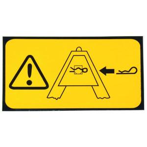 Waarschuwingssticker TL150681K - WB000007 | Sticker