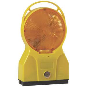 Obstakellamp LED geel - WB10150 | Voozien van schemersensor | 180 mm