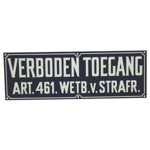 "Bord ""Verboden toegang"" - WB2200 | Kunststof | 328 x 110 mm"