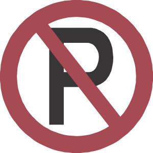Brady Sticker verbod 315mm parkeren - WB222928 | Sticker | 315 mm