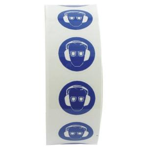Sticker gebod 25mm oog+oor - WB227511 | Sticker | 25 mm