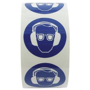 Sticker gebod 50mm oog+oor - WB227539 | Sticker | 50 mm