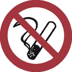 Brady Sticker verbod 50mm roken 2x - WB250000 | Sticker | 50 mm