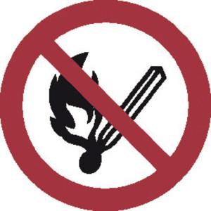 Brady Sticker verbod 200mm vuur - WB250004 | Sticker | 200 mm