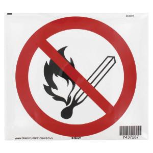 Brady Sticker verbod 200mm vuur - WB250004L | Sticker | 200 mm
