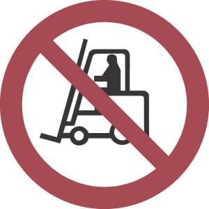 Brady Sticker verbod 100mm heftruck - WB250013 | Sticker | 100 mm