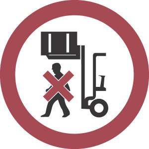 Brady Sticker verbod 100mm getilde last - WB250031 | Sticker | Rood / wit | 100 mm