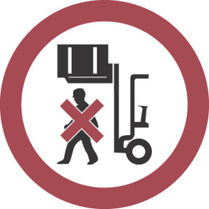 Brady Sticker verbod 200mm getilde last - WB250032 | Sticker | Rood / wit | 200 mm