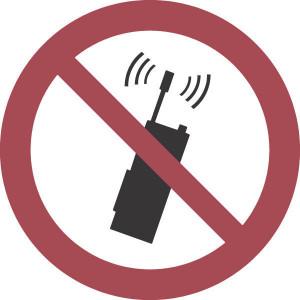 Brady Sticker verbod 100mm mob.tel. - WB250067 | Sticker | 100 mm