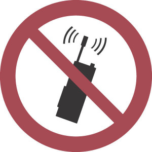 Brady Sticker verbod 200mm mob.tel. - WB250068 | Sticker | 200 mm