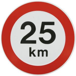 Begrenzingsbord - WB2500 | Metalen uitvoering | Metaal | 25 km/h | Ø 240 mm