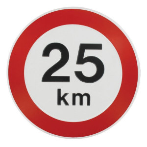 Bord 25 km Nederlands model - WB2500L | Metalen uitvoering | Metaal | 25 km/h | Ø 240 mm