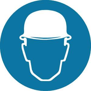 Brady Sticker gebod 200mm hoofdbes. - WB250103 | Sticker | 200 mm