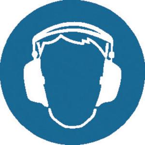 Brady Sticker gebod 100mm gehoorbesch. - WB250104 | Sticker | 100 mm
