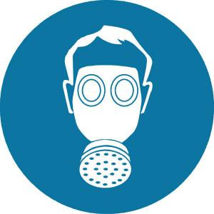 Brady Sticker gebod 100mm adembesch. - WB250106 | Sticker | 100 mm