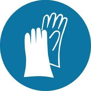Brady Sticker gebod 100mm handbesch. - WB250110 | Sticker | 100 mm
