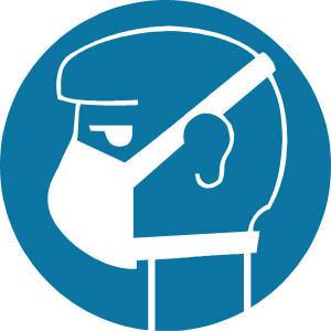 Brady Sticker gebod 100mm adembesch. - WB250133 | Sticker | 100 mm