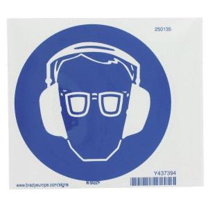 Sticker gebod 100mm oog+oor - WB250135 | Sticker | 100 x 100 mm