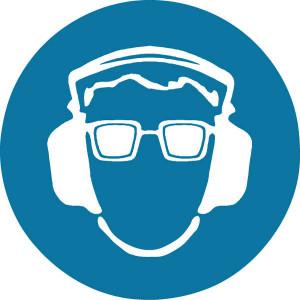 Sticker gebod 200mm oog+oor - WB250136 | Sticker | 200 mm