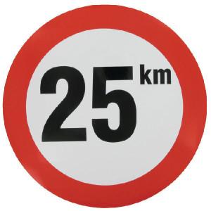 Begrenzingsbord sticker - WB2501 | Sticker | 25 km/h | Ø 240 mm