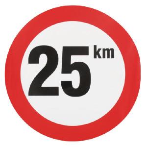 Sticker 25 km nederlands model - WB2501L | Sticker | 25 km/h | Ø 240 mm