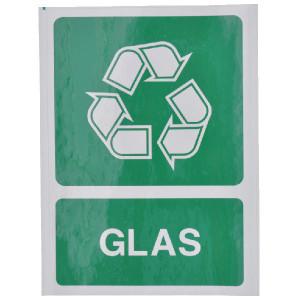 Brady Sticker recycle glas - WB251292 | Sticker | 210 x 297 mm