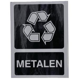 Brady Sticker recycle metalen - WB251295 | Sticker | 210 x 297 mm