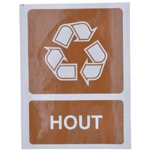 Brady Sticker recycle hout - WB251296 | Sticker | 210 x 297 mm
