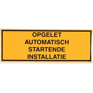 Sticker autom. start. installatie - WB251457 | Sticker | 297 x 105 mm