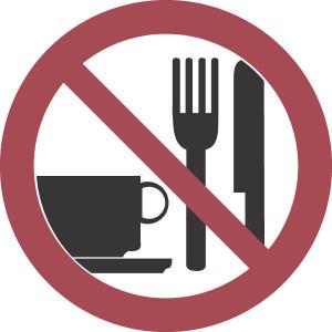 Brady Bord verbod 200mm eten+drinken - WB252048 | Kunststof | 200 mm