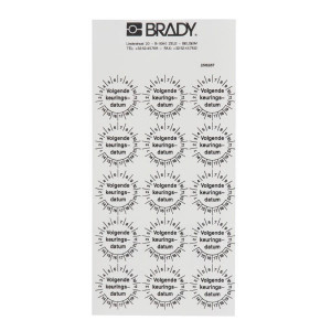 "Brady Sticker ""Keuringsdatum"" ø30 mm - WB256287"